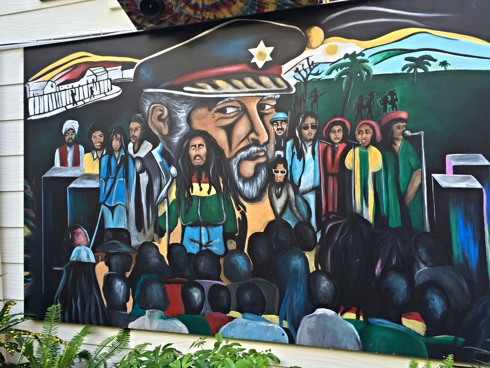 Mural Painting Decoration at Bob Marley A Tribute to Freedom