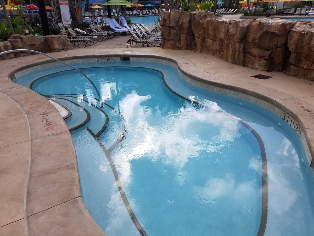 The hot tub at Loews Sapphire Falls Resort.