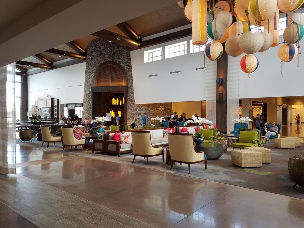 Loews Sapphire Falls Resort lobby.