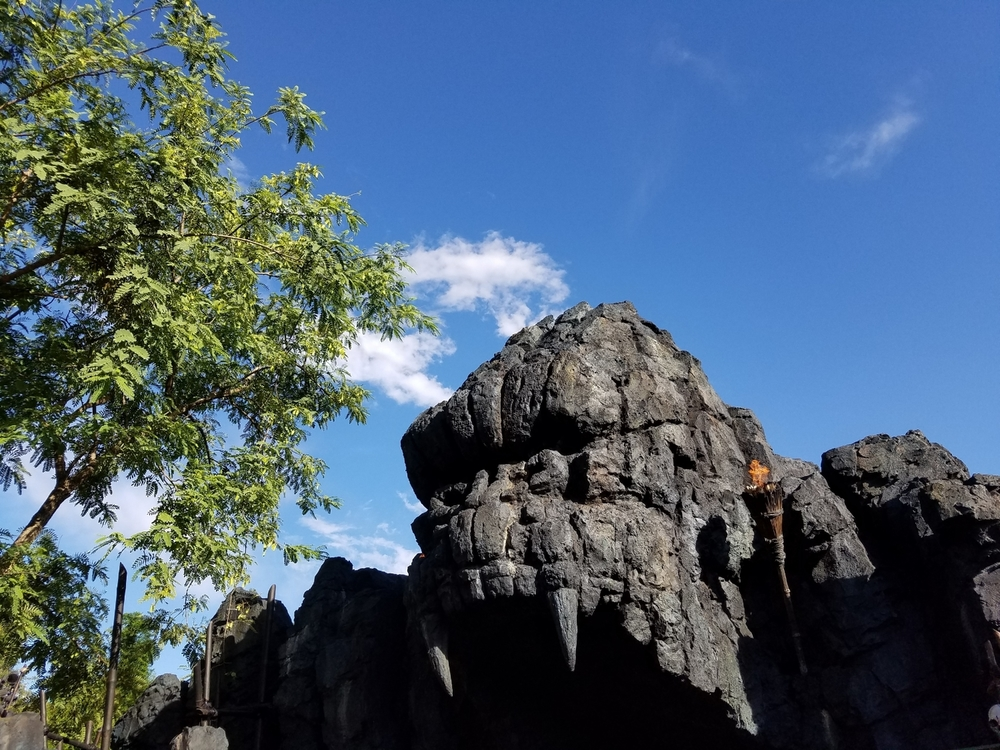 Kong's Face Carved Into Rock