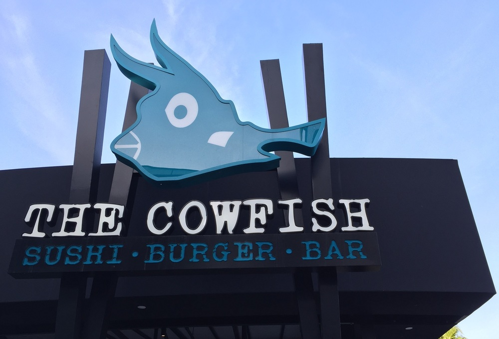 Exterior Cowfish Sign