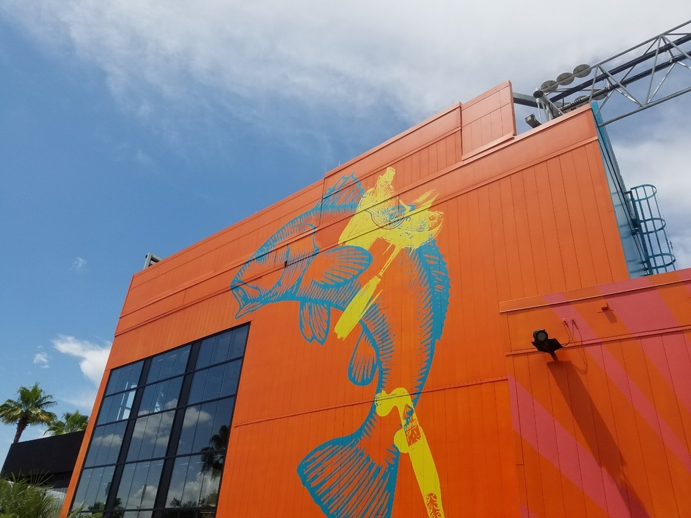 Exterior Artwork at Cowfish
