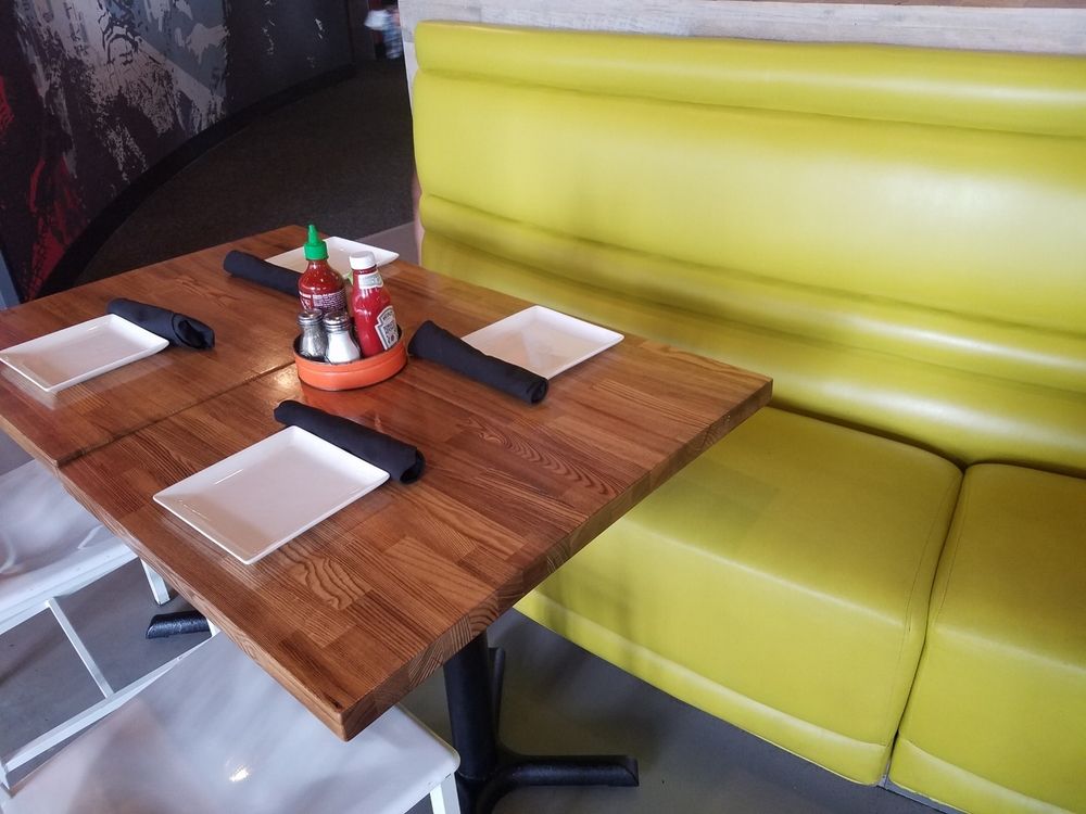 Booth Seating at Cowfish