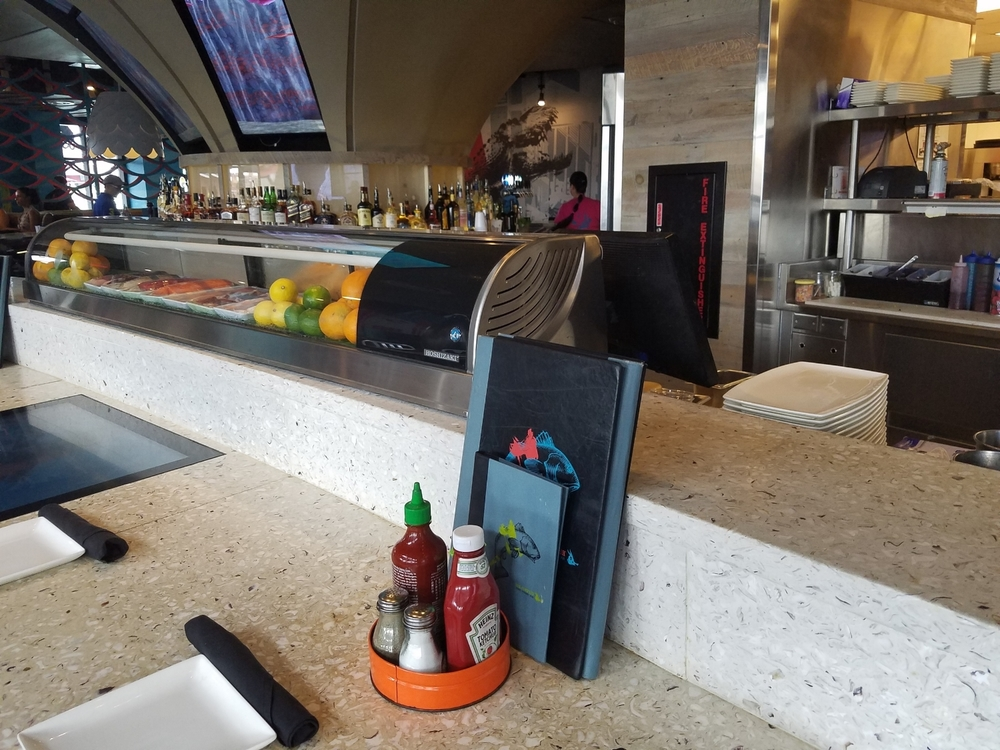 Bar Style Seating at Cowfish