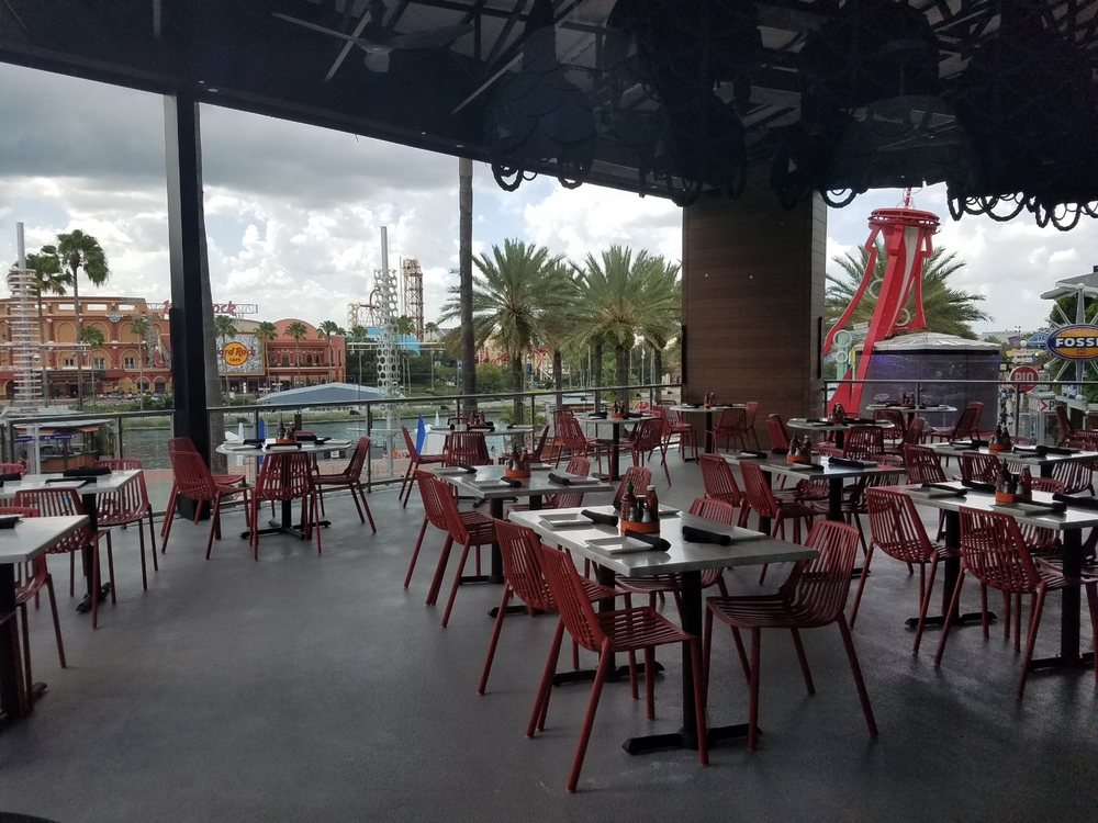 Outdoor Second Floor Seating Area at Cowfish