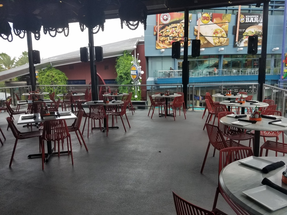Second Floor Outdoor Seating at Cowfish