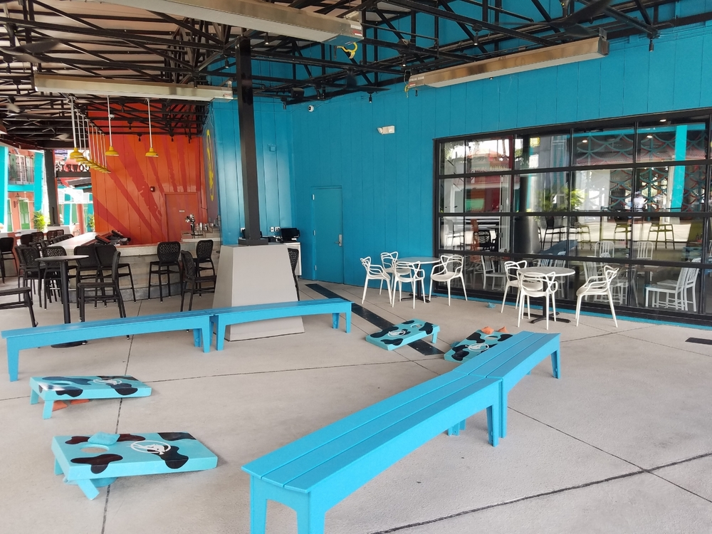 Outdoor Game Area at Cowfish