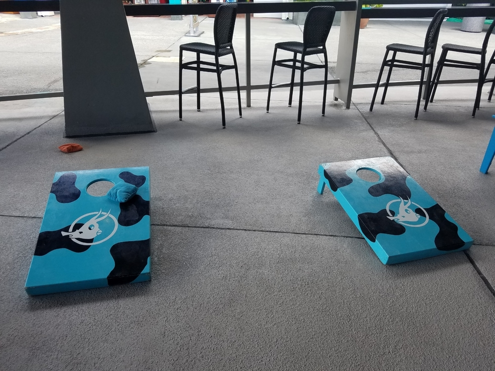 Play Corn Hole at Cowfish
