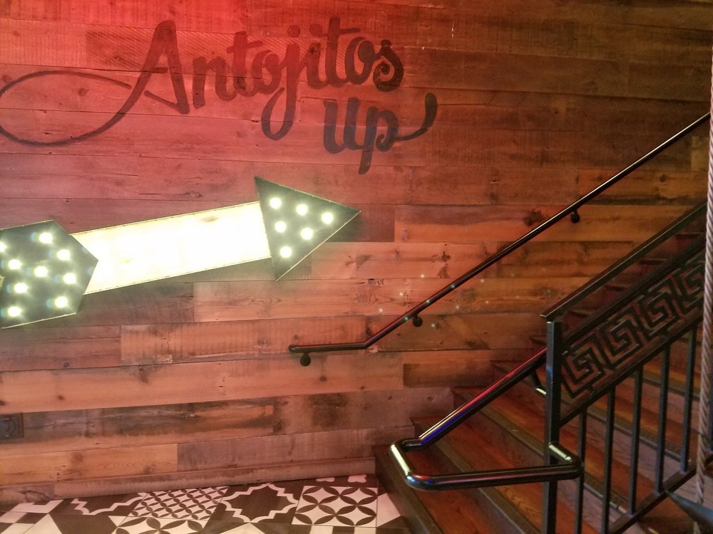 Stairway to Second Floor at Antojitos