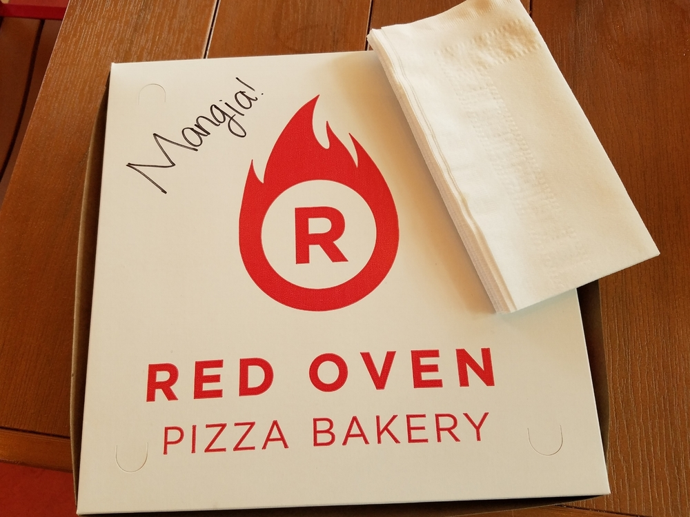 Carry Out Available at Red Oven Pizza Bakery