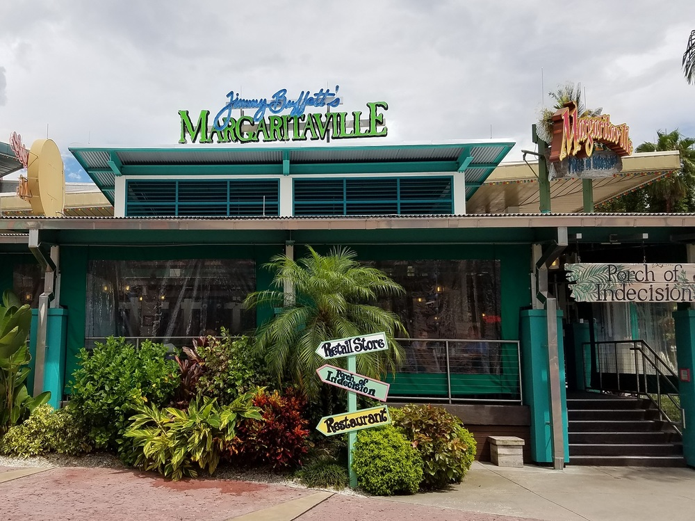 Jimmy Buffett's Margaritaville has three bars, Floribbean cuisine, and nightly performances featuring live music.