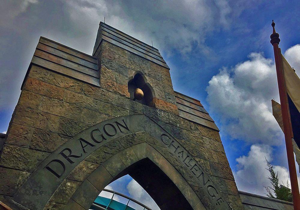 Dragon Challenge Ride Entrance