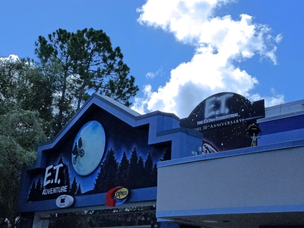 E.T. Adventure ride marquee.