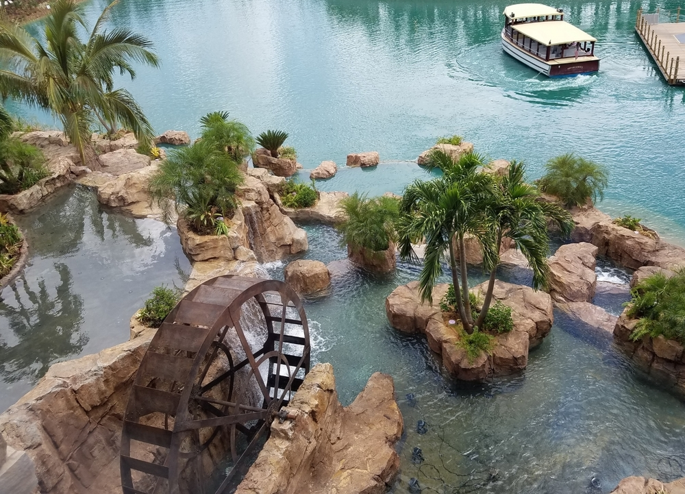 Lagoon Side of the Falls at Loews Sapphire Falls Resort