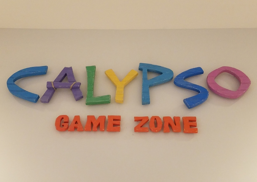 Calypso Game Zone Sign at Loews Sapphire Falls Resort