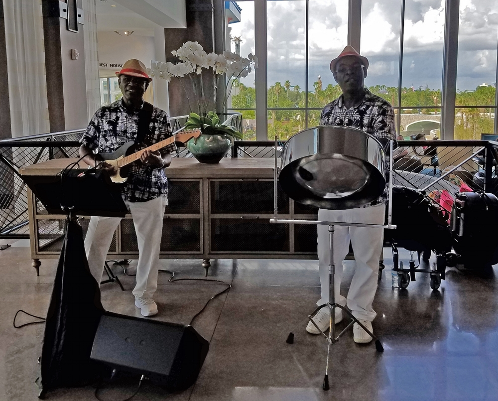 Listening to Steel Drum Music at Loews Sapphire Falls Resort