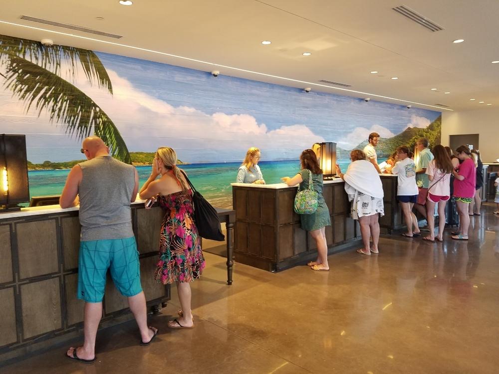 Loews Sapphire Falls Resort Front Desk