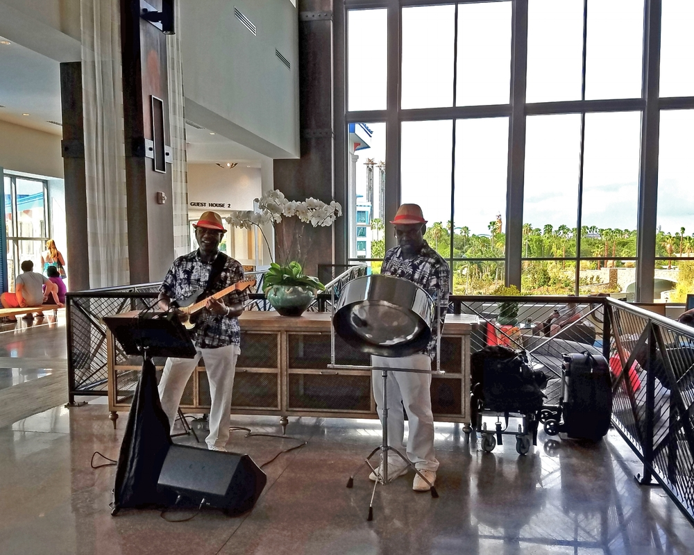 Steel Drum Musician at Loews Sapphire Falls Resort