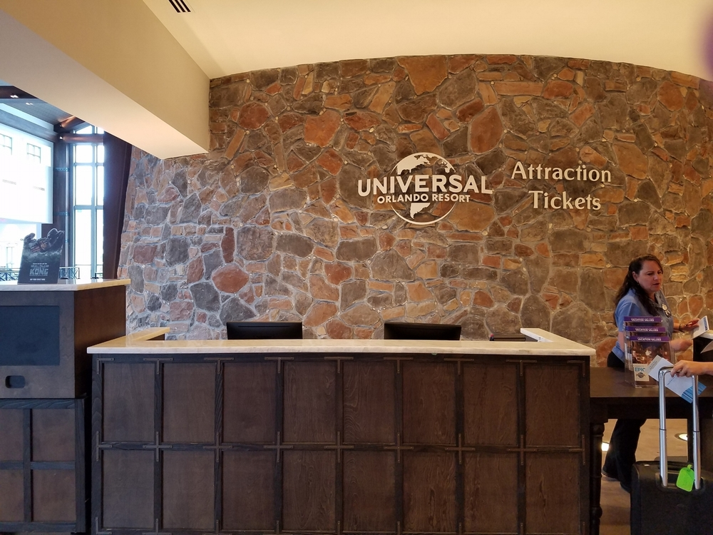 Attraction Ticket Desk at Loews Sapphire Falls Resort