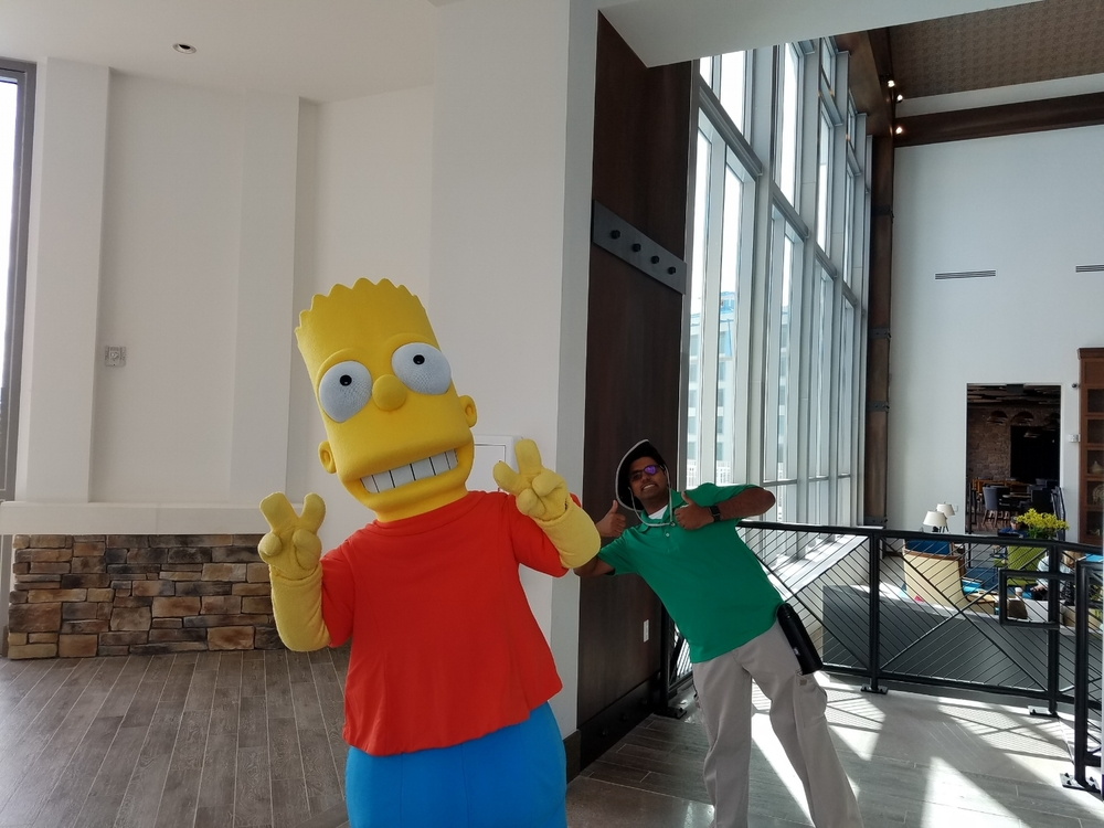 Bart Simpson at Loews Sapphire Falls Resort