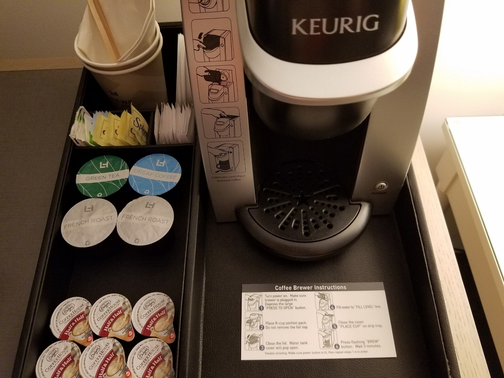 Coffee Maker in Room at Loews Sapphire Falls Resort