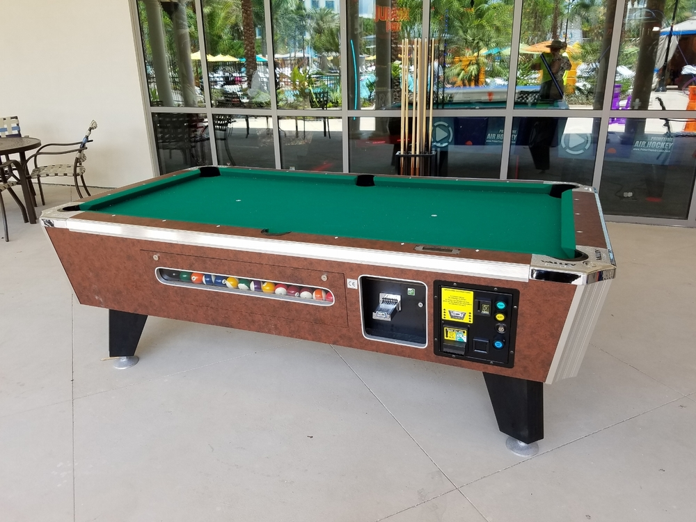 Billiards Table Near the Pool at Loews Sapphire Falls Resort