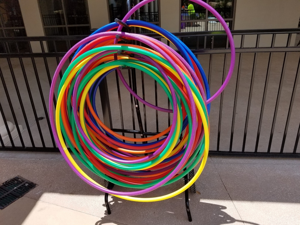Hula Hoops Near the Pool at Loews Sapphire Falls Resort