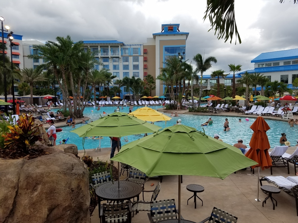 One Last Swim Before the Rain Moves in at Loews Sapphire Falls Resort Pool