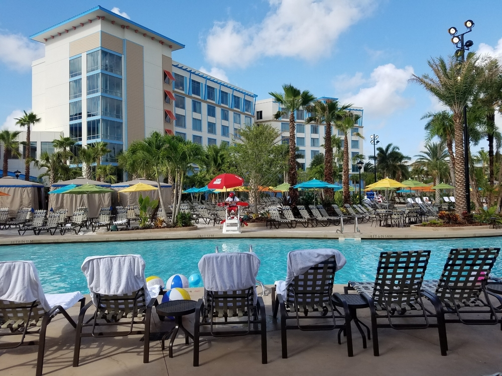 Lifeguard Keeping Loews Sapphire Falls Resort Pool Safe