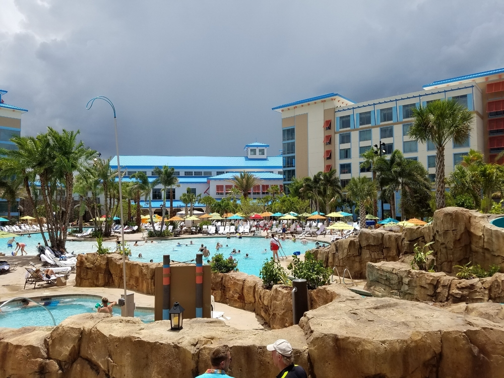View of Loews Sapphire Falls Resort Pool From Near the Top of the Water Slide