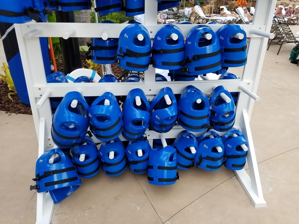 Life Jackets for use at Loews Sapphire Falls Resort Pool