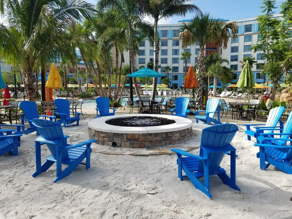Fire Pit at Loews Sapphire Falls Resort Pool Area