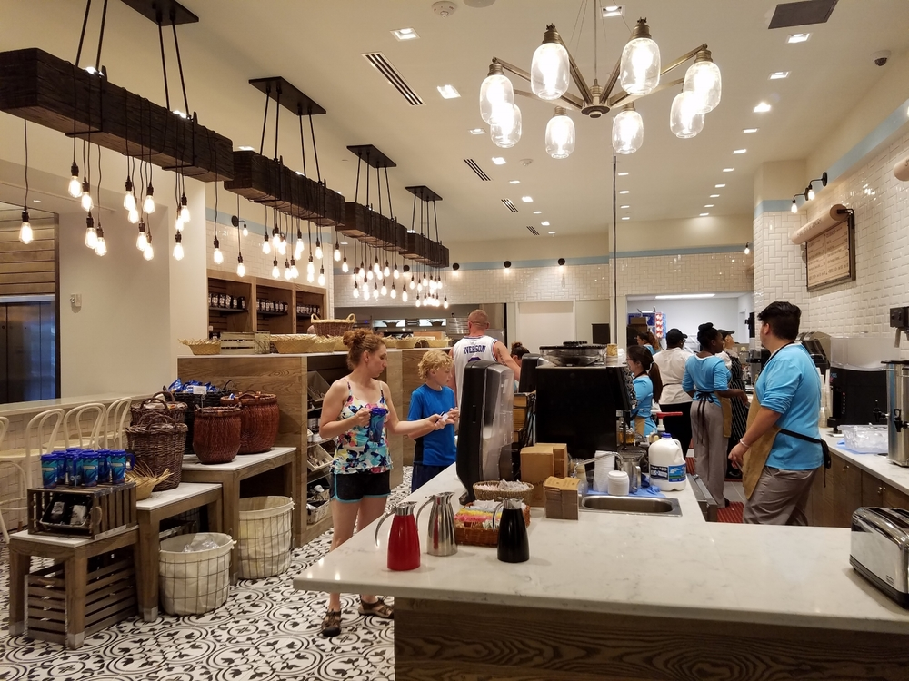 Counter at New Dutch Trading Co. in Loews Sapphire Falls Resort