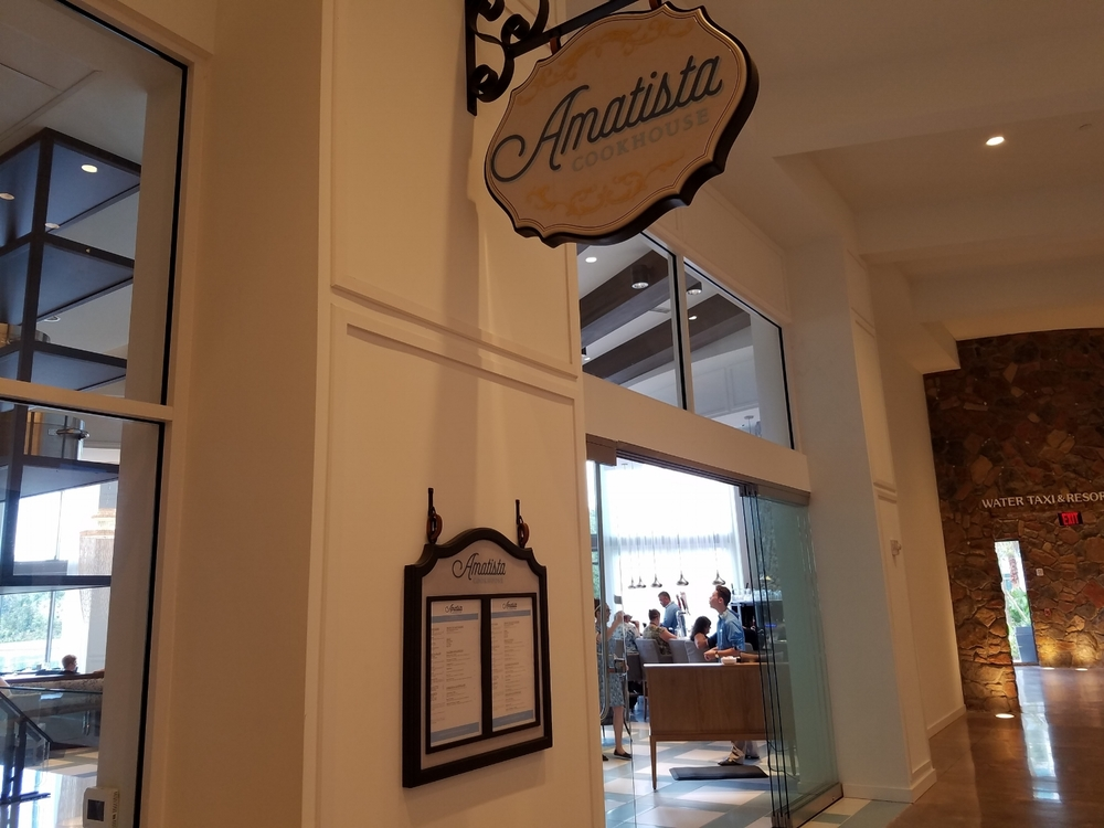Amatista Cookhouse Entrance at Loews Sapphire Falls Resort