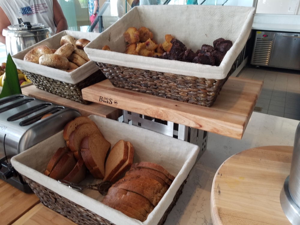 Bagels and Bread at the Breakfast Buffet in Amatista Cookhouse