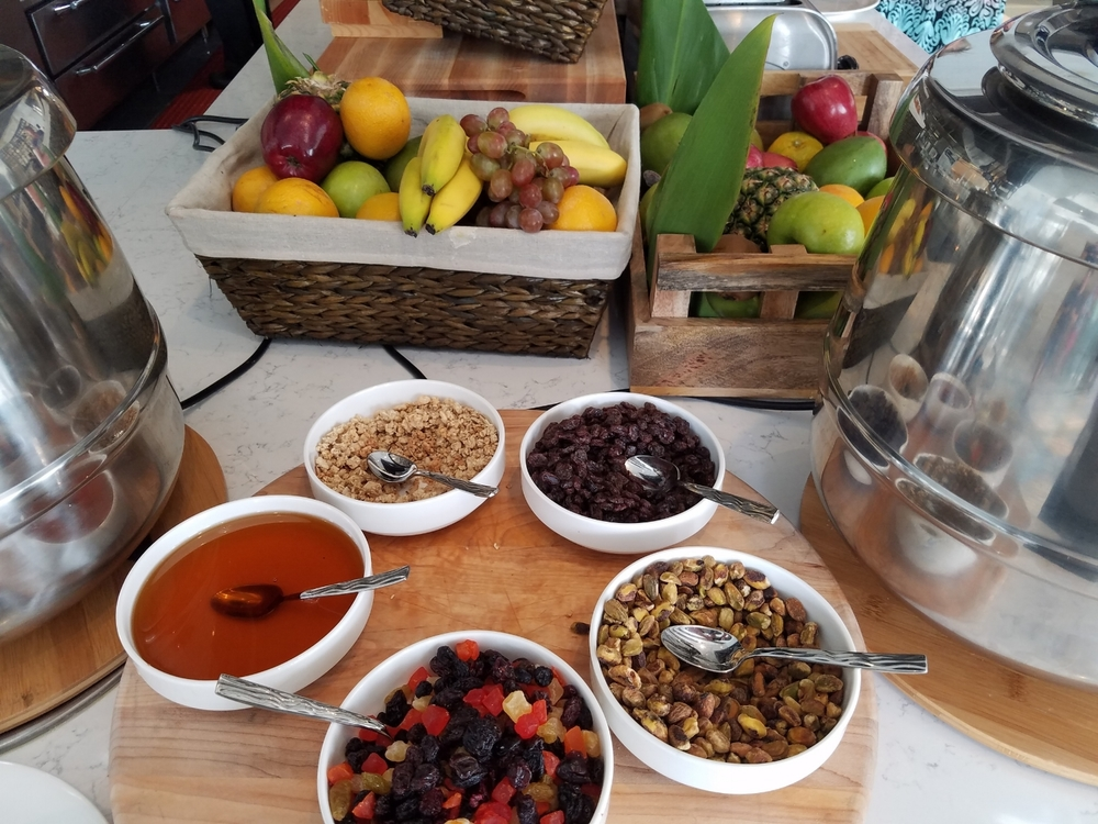 Fresh Fruit and Oatmeal Toppings at Amatista Cookhouse Breakfast Buffet
