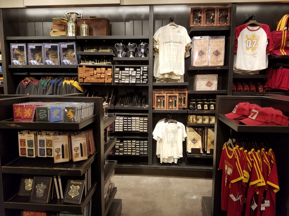 Harry Potter Merchandise in Universal Studios Store at Sapphire Falls