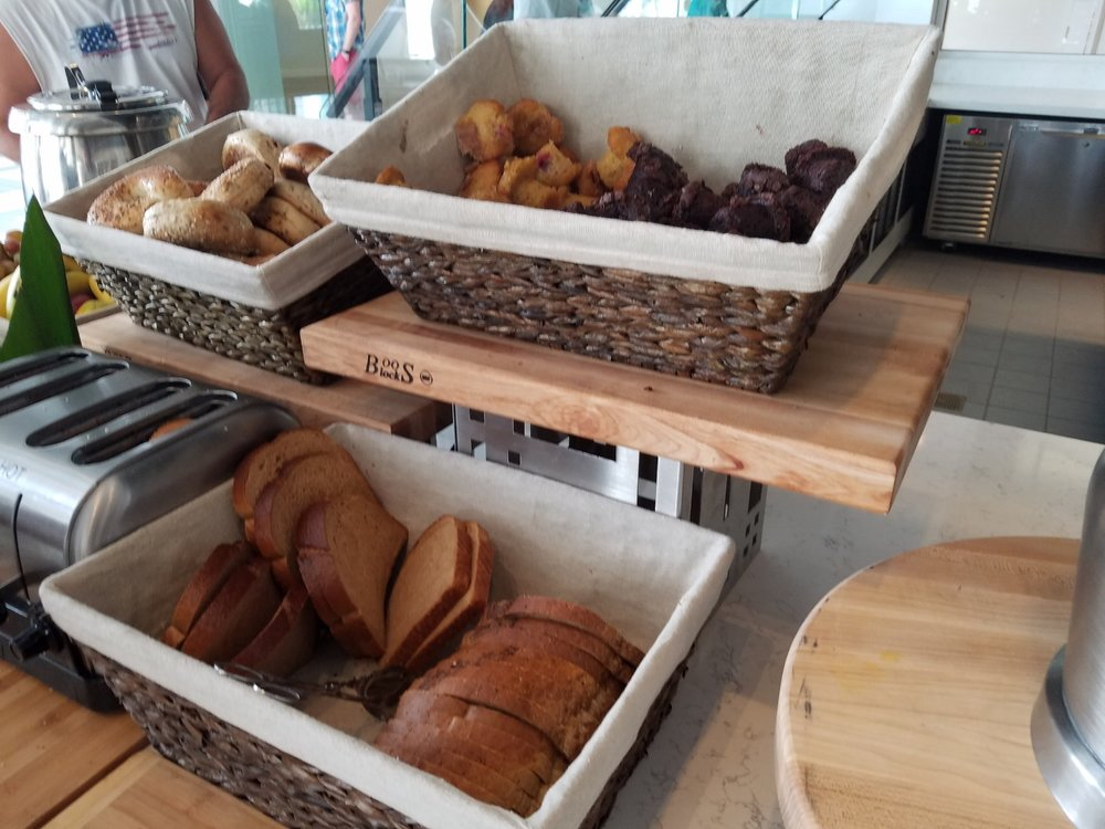 Toasted Bagels and Bread Options at Amatista Cookhouse