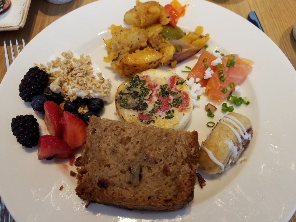 Our Breakfast Buffet Plate at Amatista Cookhouse