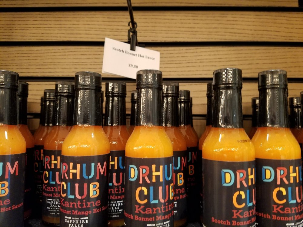 Drhum Club Kantine Scotch Bonnet Mango Hot Sauce at New Dutch Trading Co.