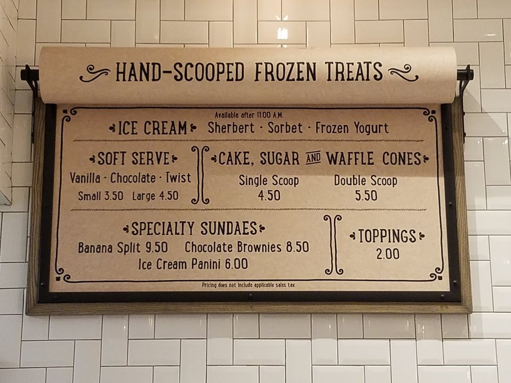 Frozen Treat Menu at New Dutch Trading Co.