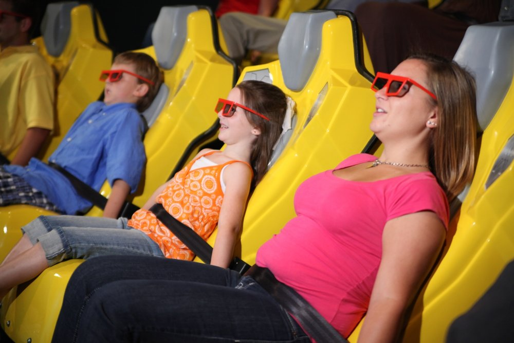 Guests in the 4D XD Motion Theater experience a 3D movie, special effects, and full motion seating.  Copyright: WonderWorks. All rights reserved.