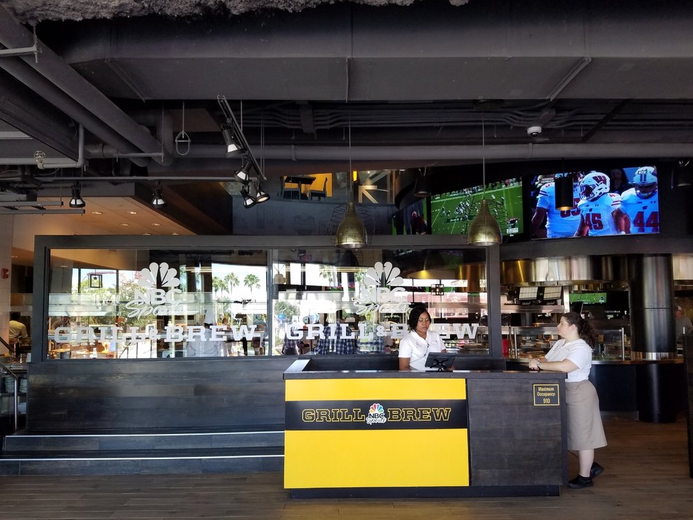 Host Area at NBC Sports Grill & Brew