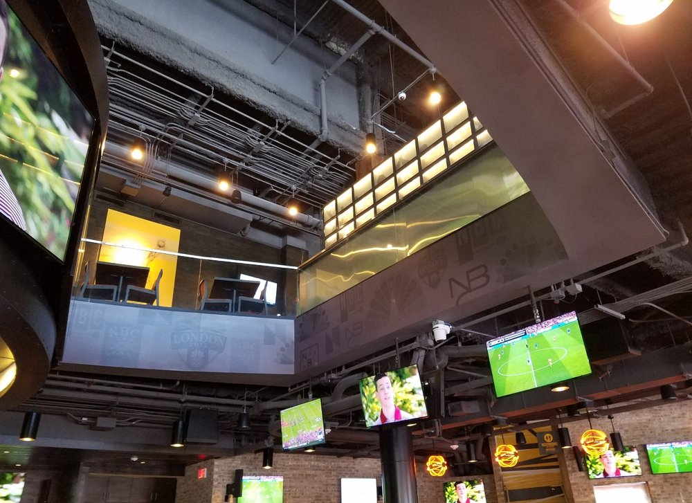 Second Floor Seating at NBC Sports Grill & Brew