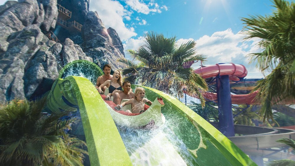 Krakatau Aqua Coaster at Volcano Bay.  Image credit: Universal Orlando Resort.