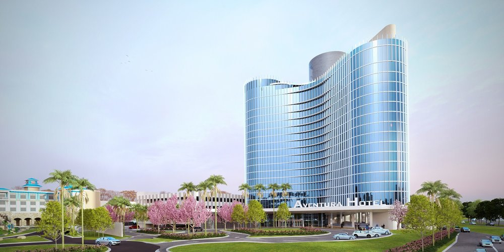 Concept art for the entry level of Universal's Aventura Hotel. Copyright Universal Orlando Resort. All rights reserved.