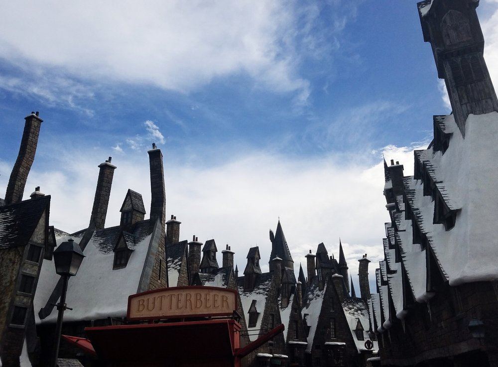 Snow Topped Roofs at Hogsmeade