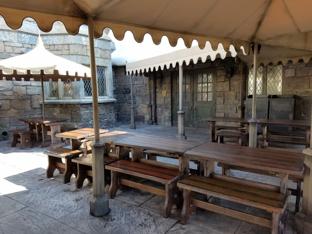 Outdoor Seating Area at the Three Broomsticks