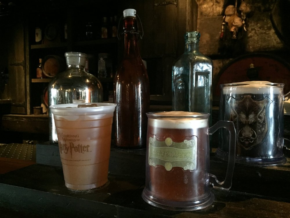 Available Butterbeer Cup Options at the Hog's Head