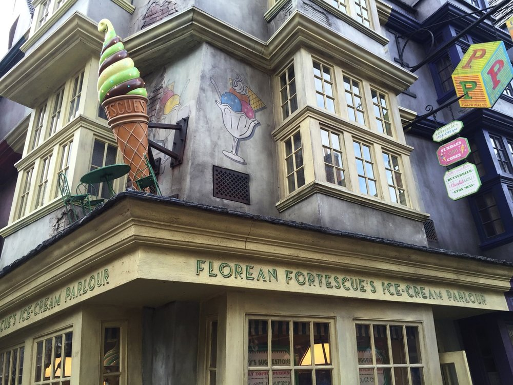 Florean Fortescue's Ice Cream Parlour in Diagon Alley.